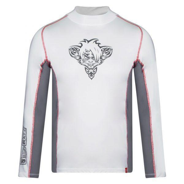 RatTatt Sun Protection Top & Rash Guard – White/Grey - surf-ratzz