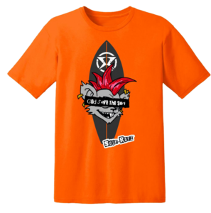 Surf Ratz God Save The Surf T-Shirt – Orange - surf-ratzz