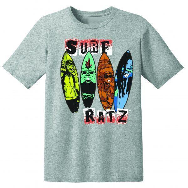 Surf Ratz Line-Up Surf T-Shirt – Heather Gray - surf-ratzz