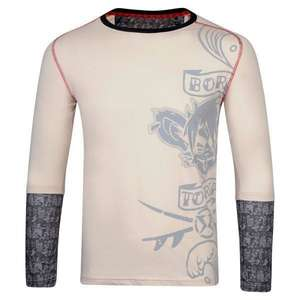 Surf Ratz Born To Rip Long Sleeved Overlay Tee – Stone - surf-ratzz