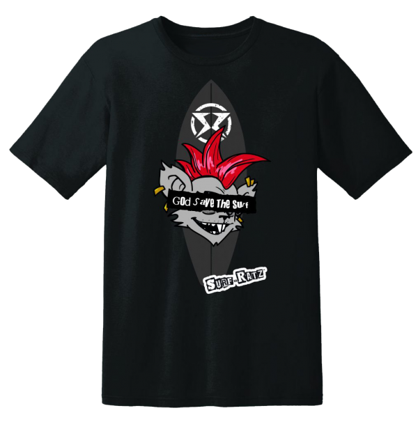 Surf Ratz God Save The Surf Kid's T-Shirt – Black - surf-ratzz