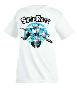 Surf Ratz Cool Curtis Surf T-Shirt – White - surf-ratzz