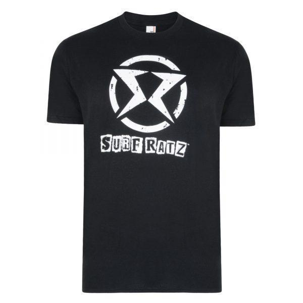 Surf Ratz SR Logo Surf T-Shirt – Black - surf-ratzz