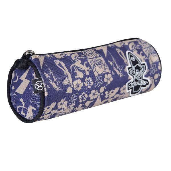 Surf Ratz SuperGrunge Tube Pencil Case – Blue/Stone - surf-ratzz