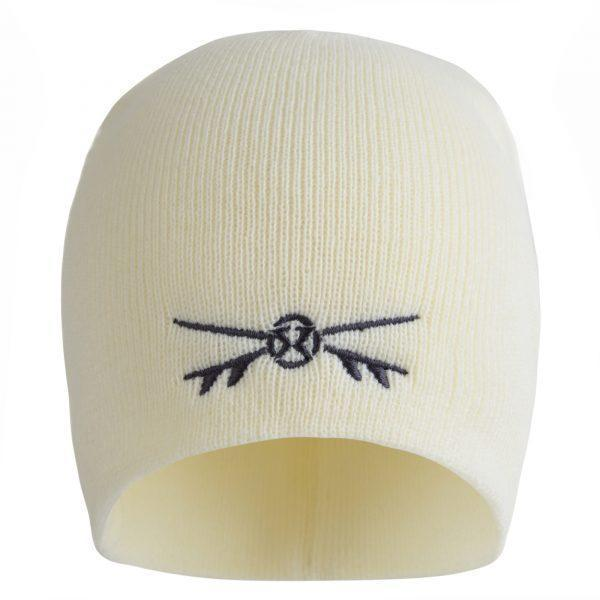 Surf Ratz X-Boards Rolled Down Beanie Hat – Cream - surf-ratzz