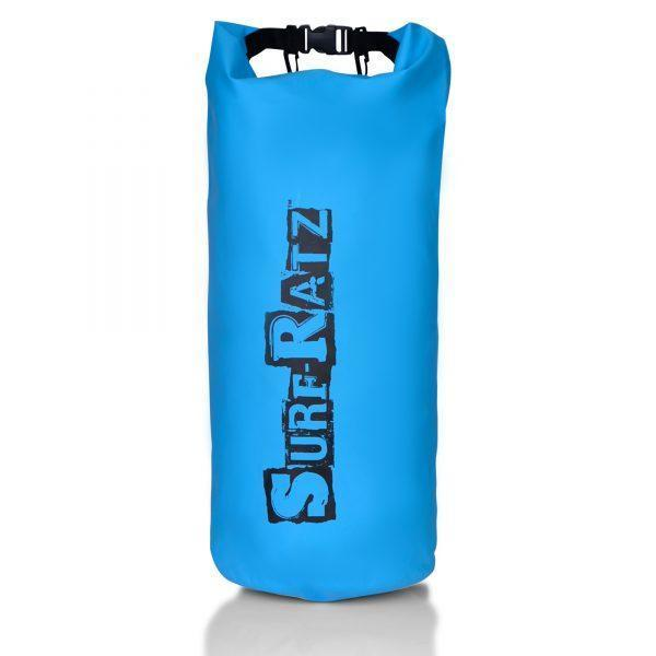 Surf Ratz Waterproof Dry Duffle Bag, Light Blue, 30L Capacity - surf-ratzz