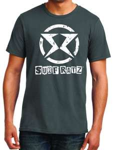Surf Ratz SR Logo Surf T-Shirt – Charcoal Gray - surf-ratzz