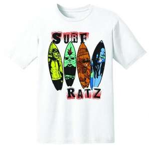 Surf Ratz Line-Up Kid's T-Shirt – White - surf-ratzz