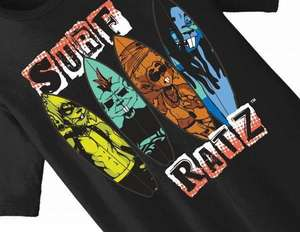 Surf Ratz Line-Up Surf T-Shirt – Black - surf-ratzz