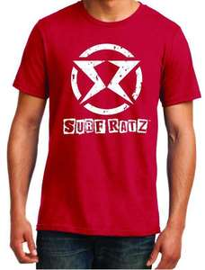 Surf Ratz SR Logo Surf T-Shirt – Red - surf-ratzz