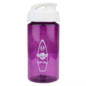 Surf Ratz Board Logo Kids Water Bottle – Translucent Purple - surf-ratzz
