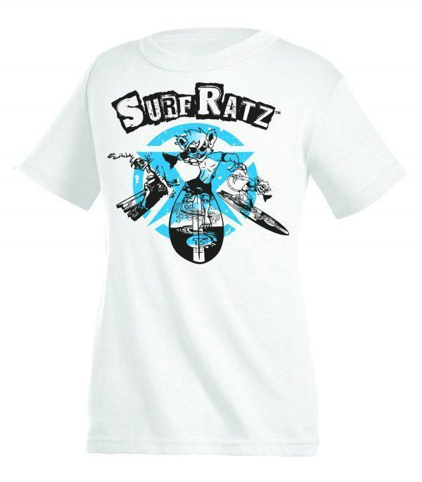 Surf Ratz Cool Curtis Kid's T-Shirt – White - surf-ratzz