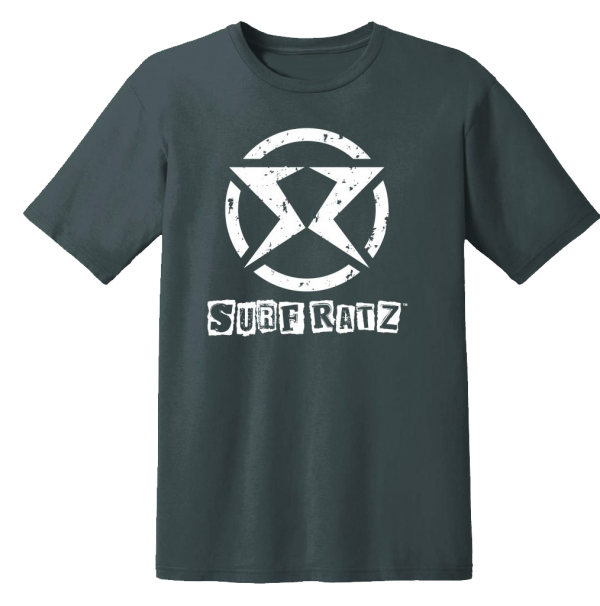Surf Ratz SR Logo Kid's T-Shirt – Charcoal Gray - surf-ratzz