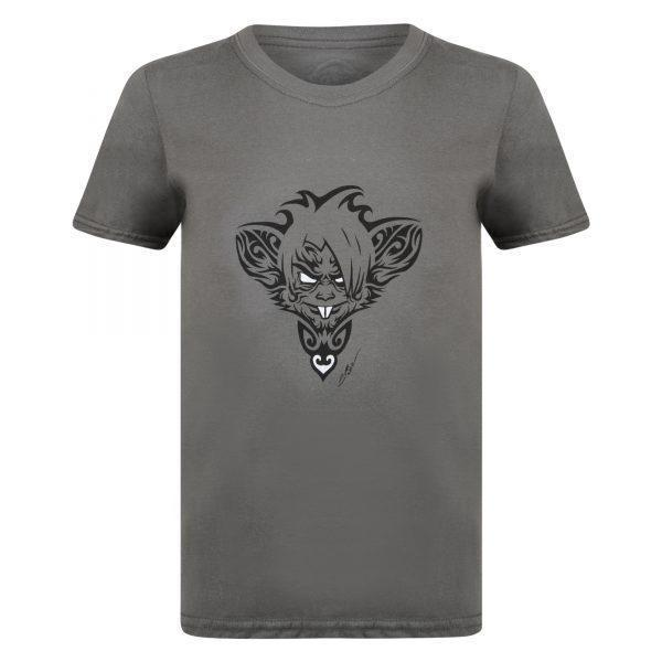 Surf Ratz Rat Tatt T-shirt – Charcoal - surf-ratzz