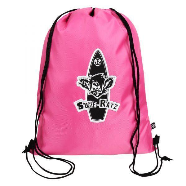 Surf Ratz Board Logo Drawstring Bag – Pink - surf-ratzz