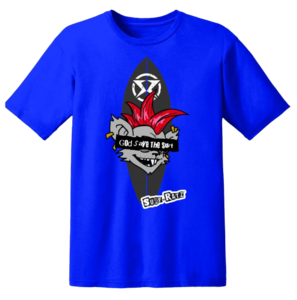 Surf Ratz God Save The Surf T-Shirt – Royal Blue - surf-ratzz