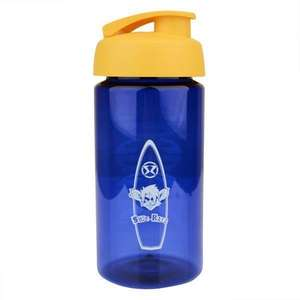 Surf Ratz Board Logo Kids Water Bottle – Translucent Blue - surf-ratzz
