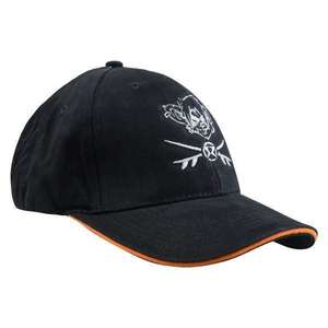RatHead Baseball Cap – Black/Orange - surf-ratzz