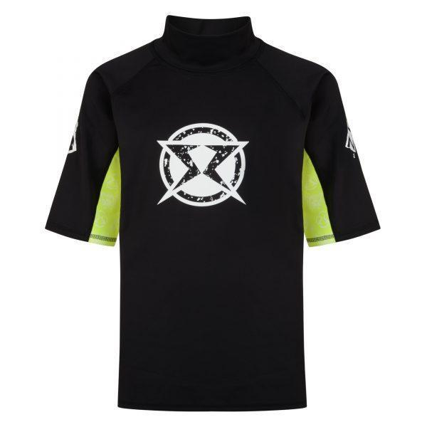 Surf Ratz Adult Surfing Rash Guard Shirt – Black & Yellow - surf-ratzz