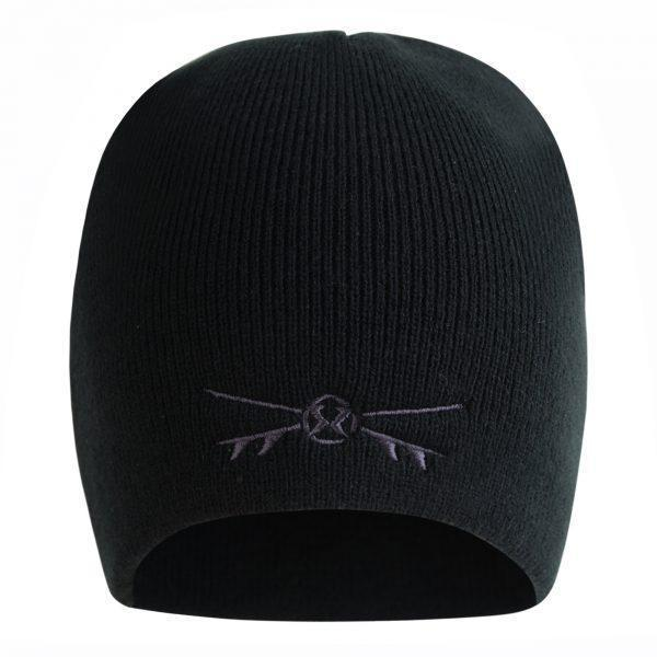 Surf Ratz X-Boards Rolled Down Beanie Hat – Black - surf-ratzz