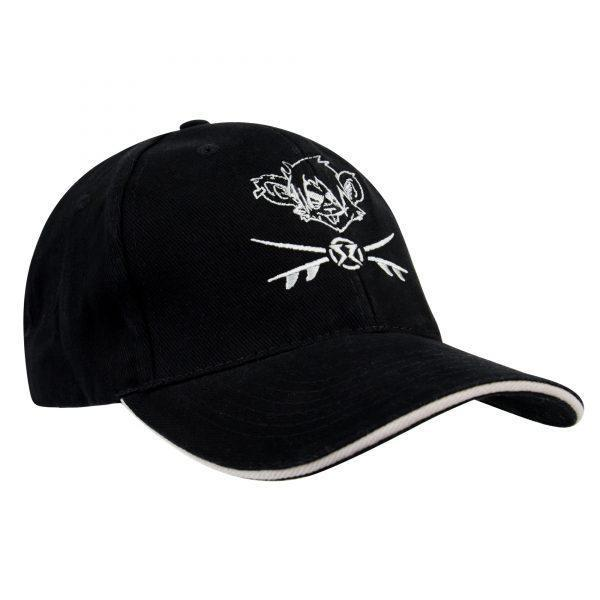 RatHead Baseball Cap – Black/Grey in Cotton twill - surf-ratzz
