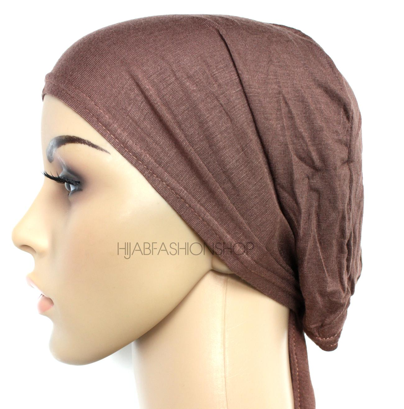 brown string bonnet