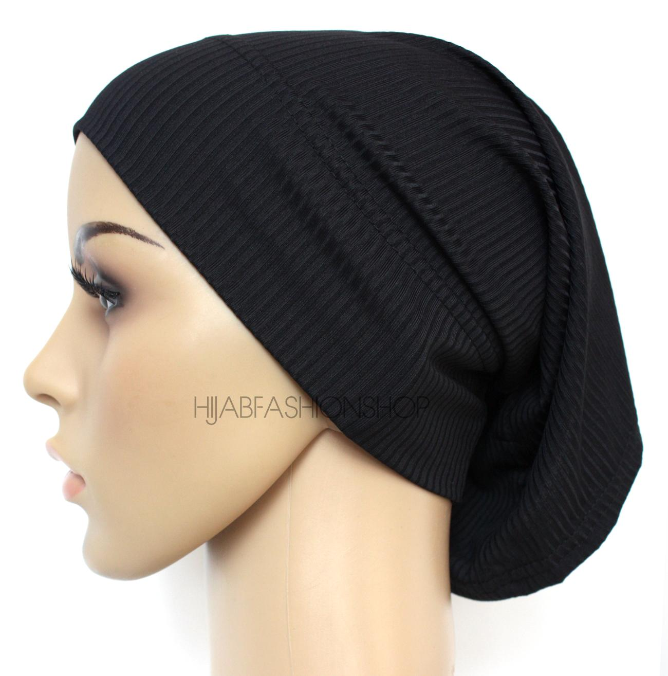 black ribbed tube underscarf
