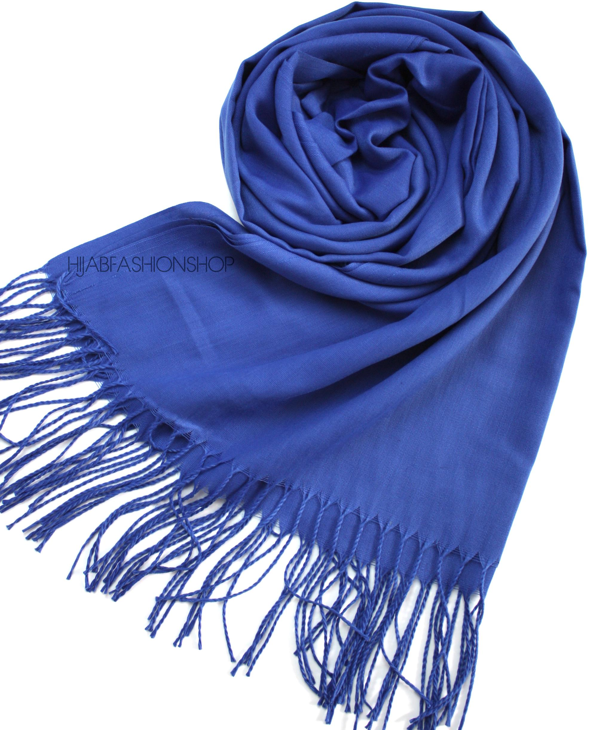 royal blue pashmina hijab