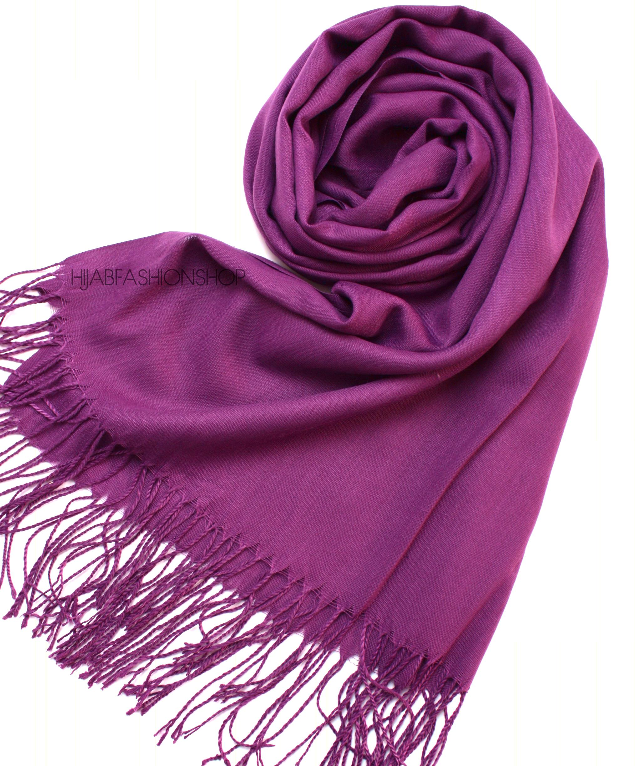 deep purple pashmina hijab