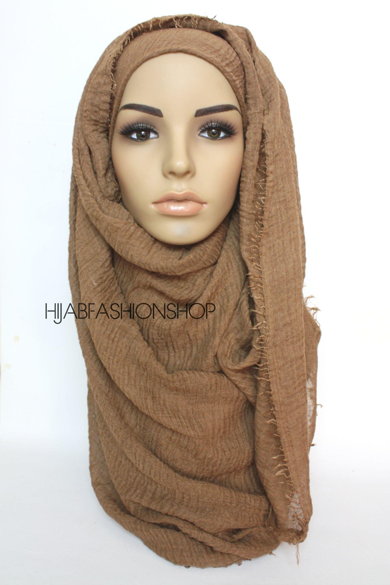 toffee crimp crinkle hijab