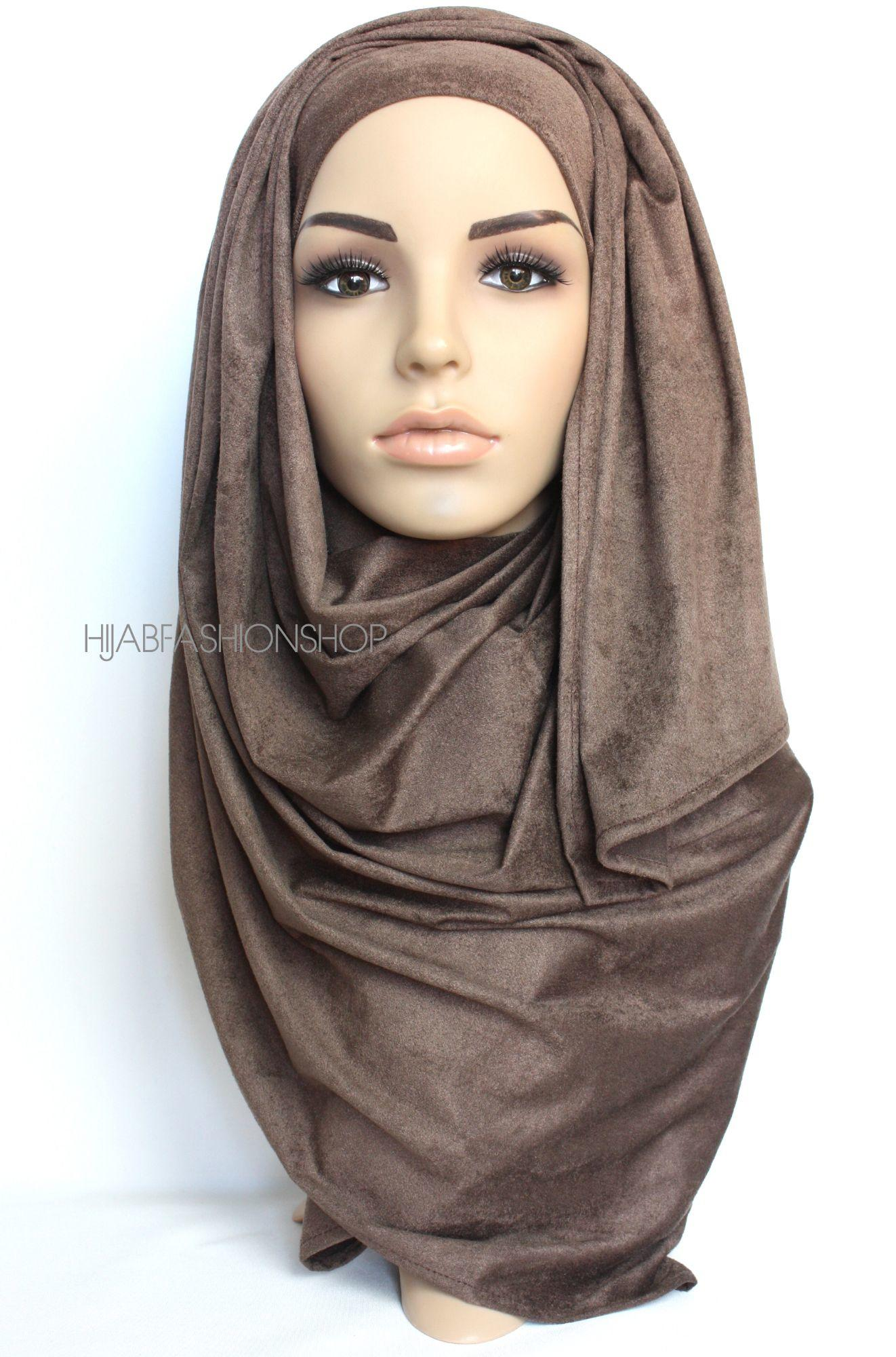 coffee suede hijab
