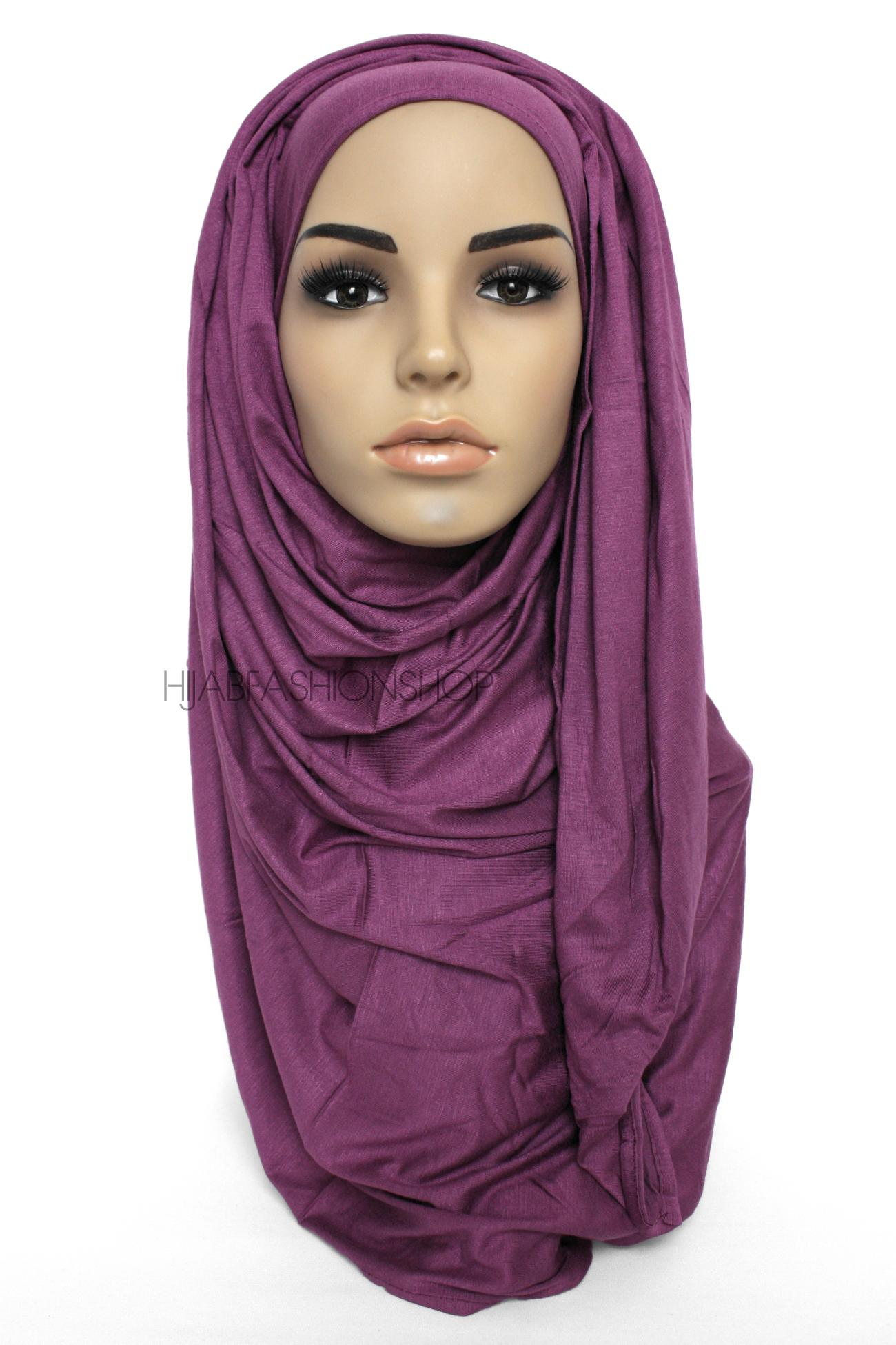 deep purple jersey hijab