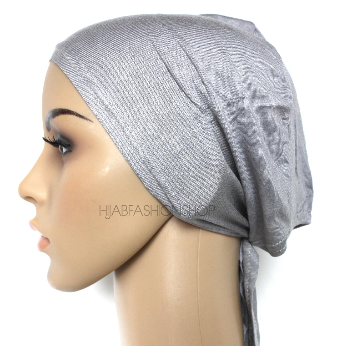 grey string bonnet