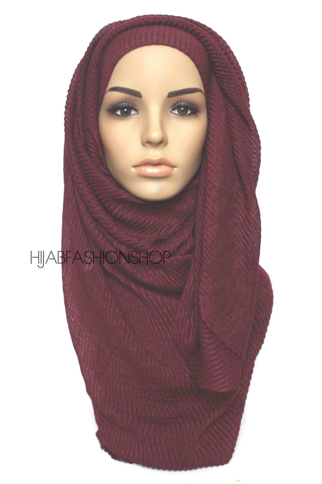 mulberry pleated hijab
