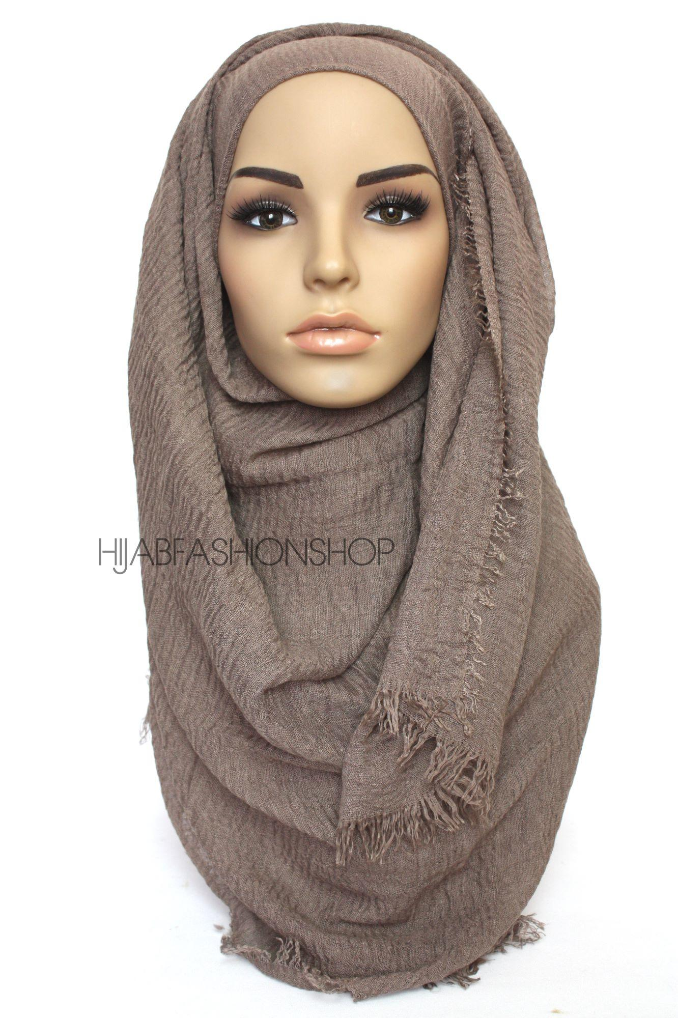 coffee crimp crinkle hijab