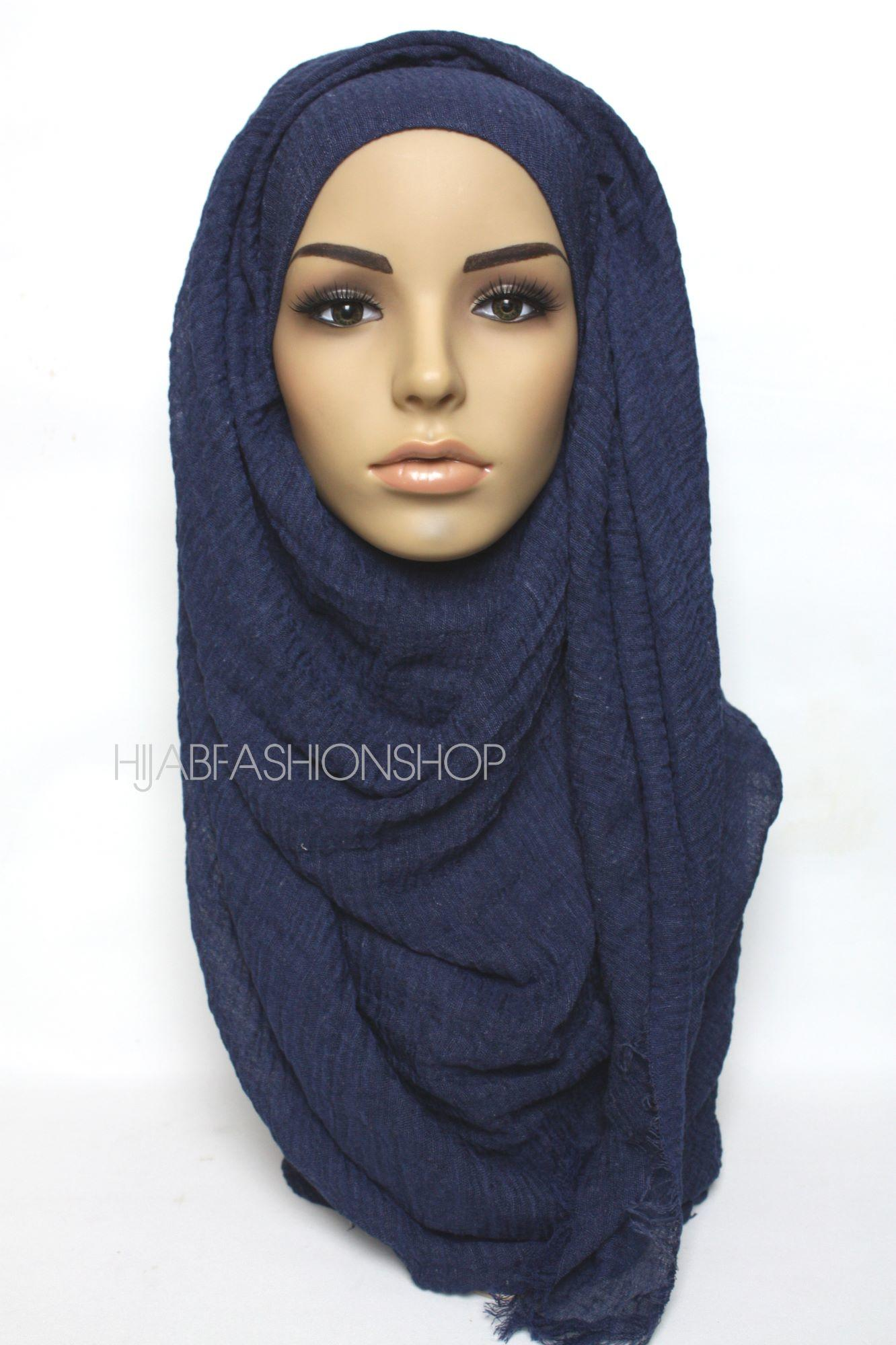 midnight crimp crinkle hijab