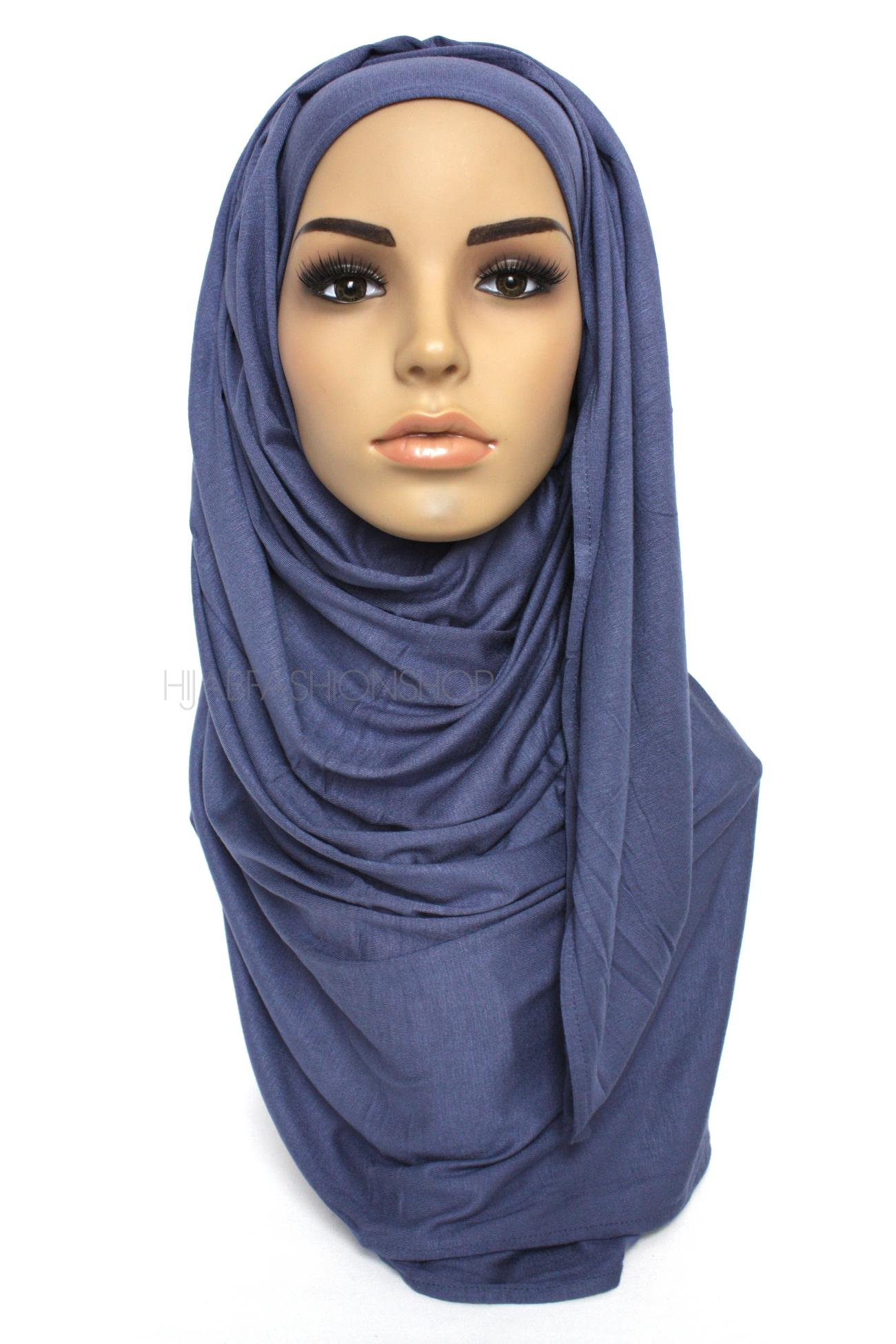 denim colour jersey hijab