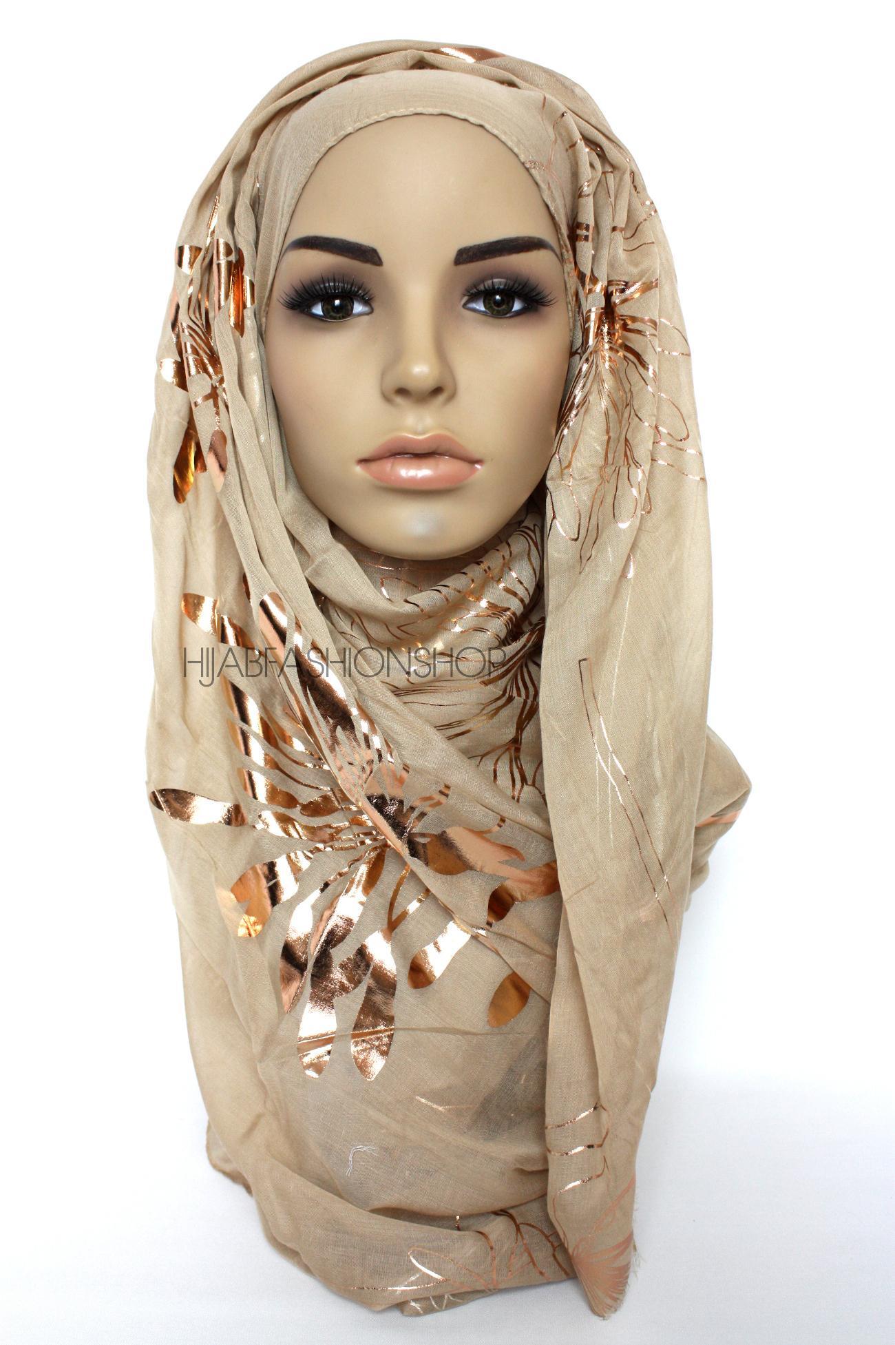 Peachy Nude Ribbed Jersey Hijab - Hijab Fashion Shop
