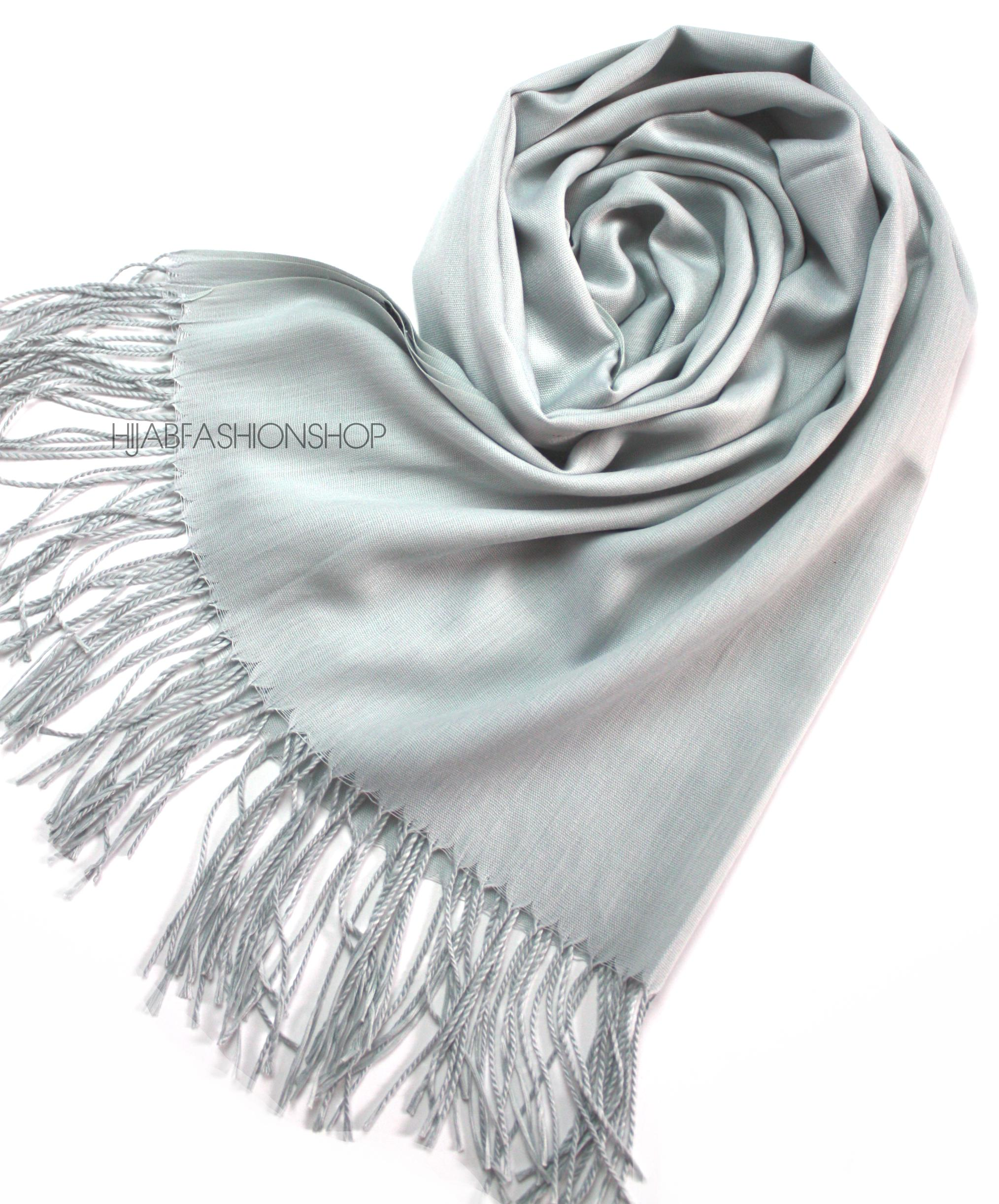light grey pashmina hijab