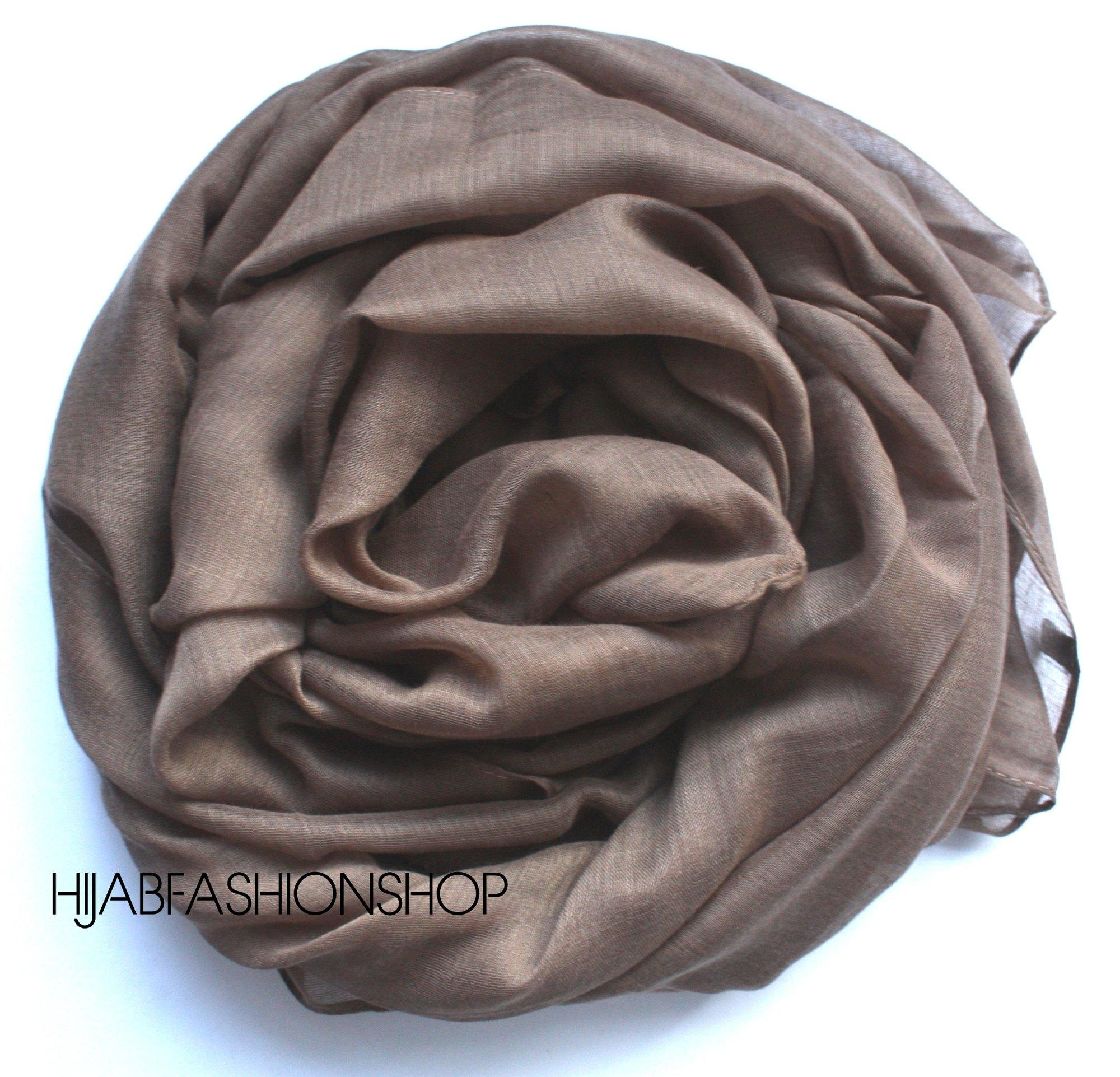coffe plain viscose hijab