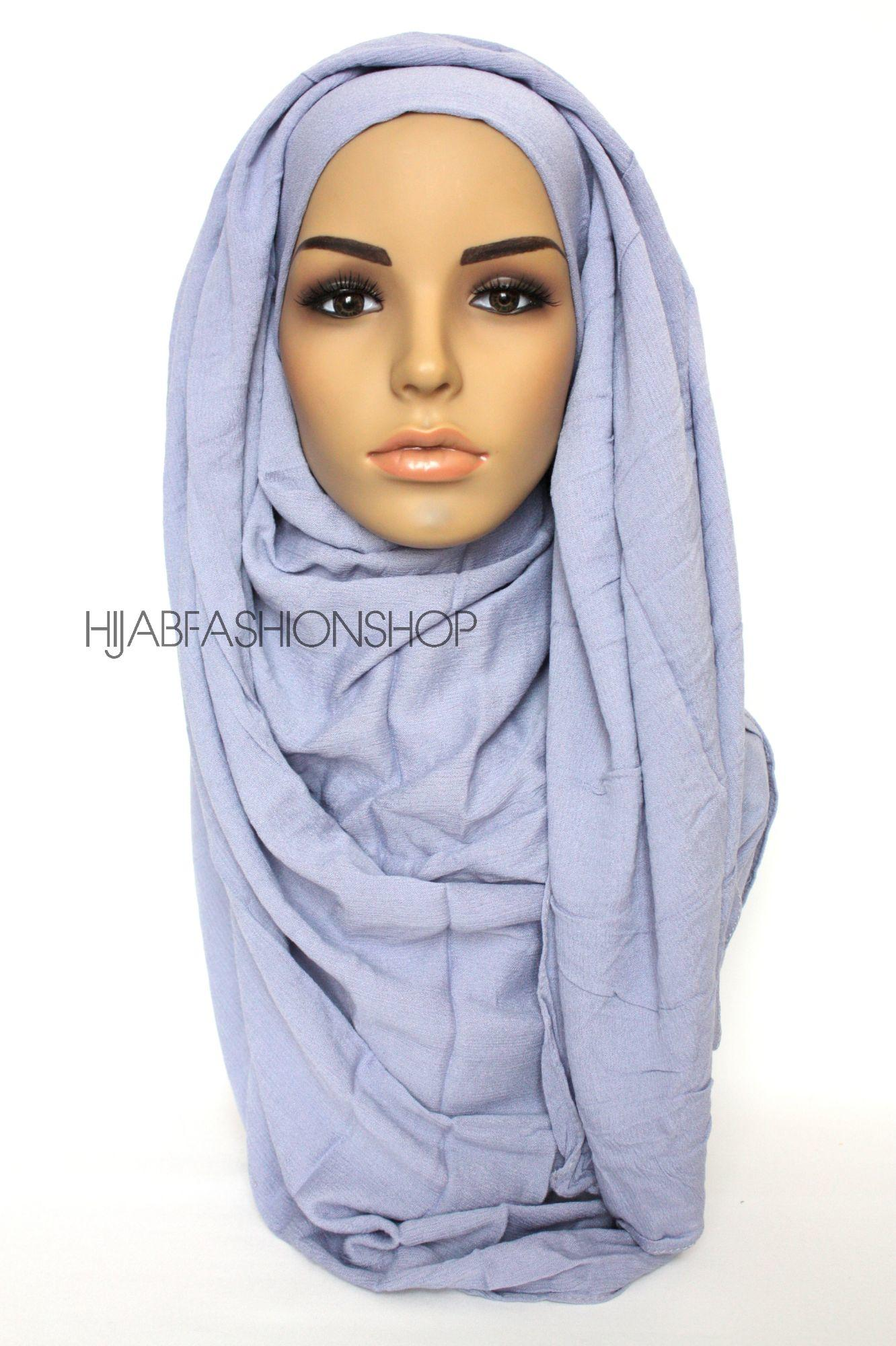 light blue rayon crinkle hijab