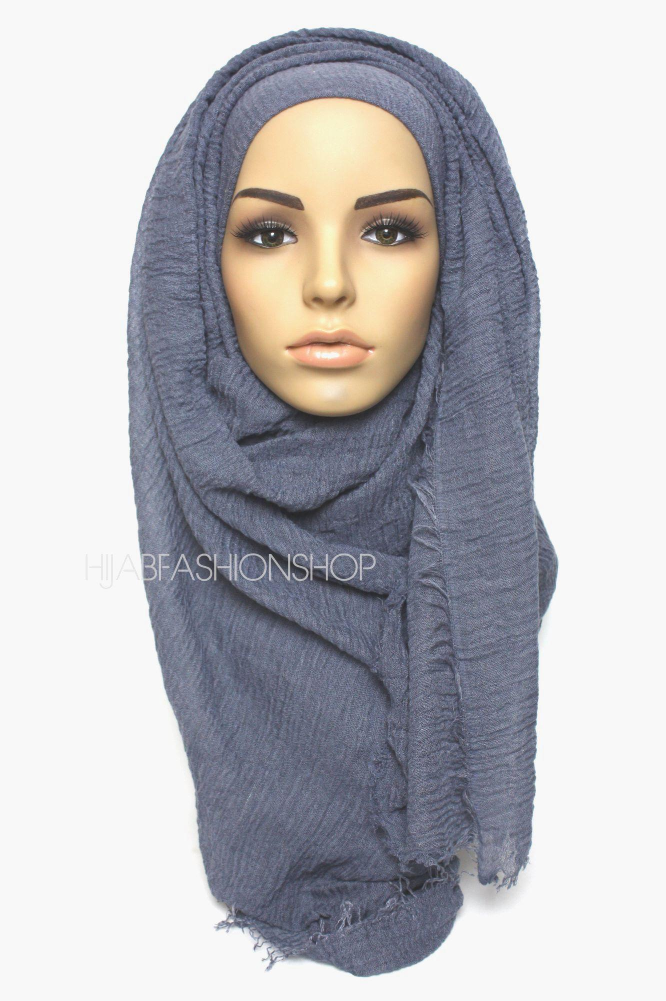 denim crimp crinke hijab