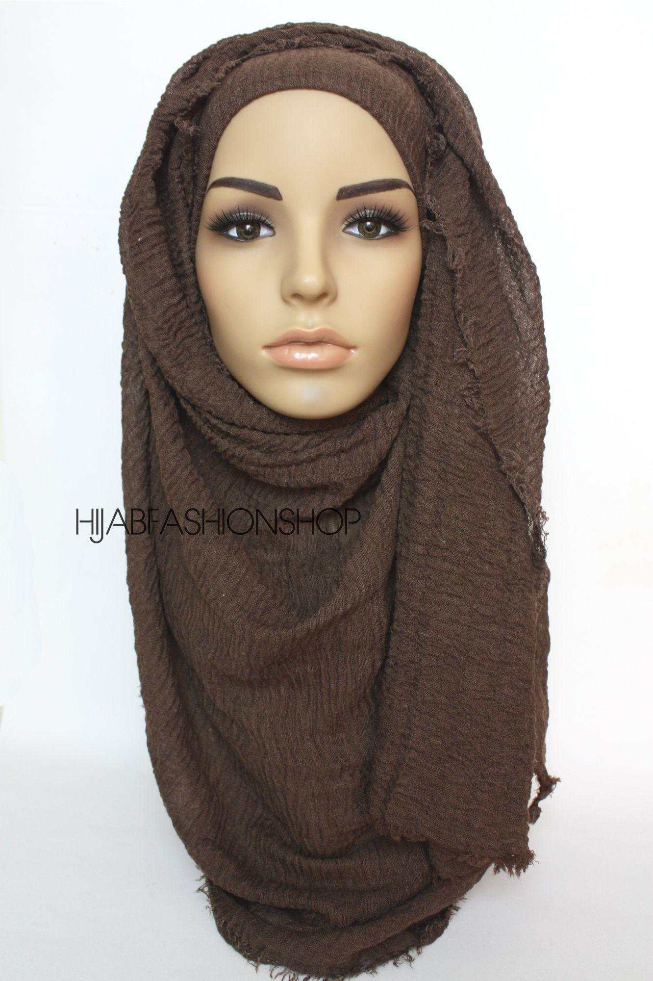 dark chocolate crimp crinkle hijab