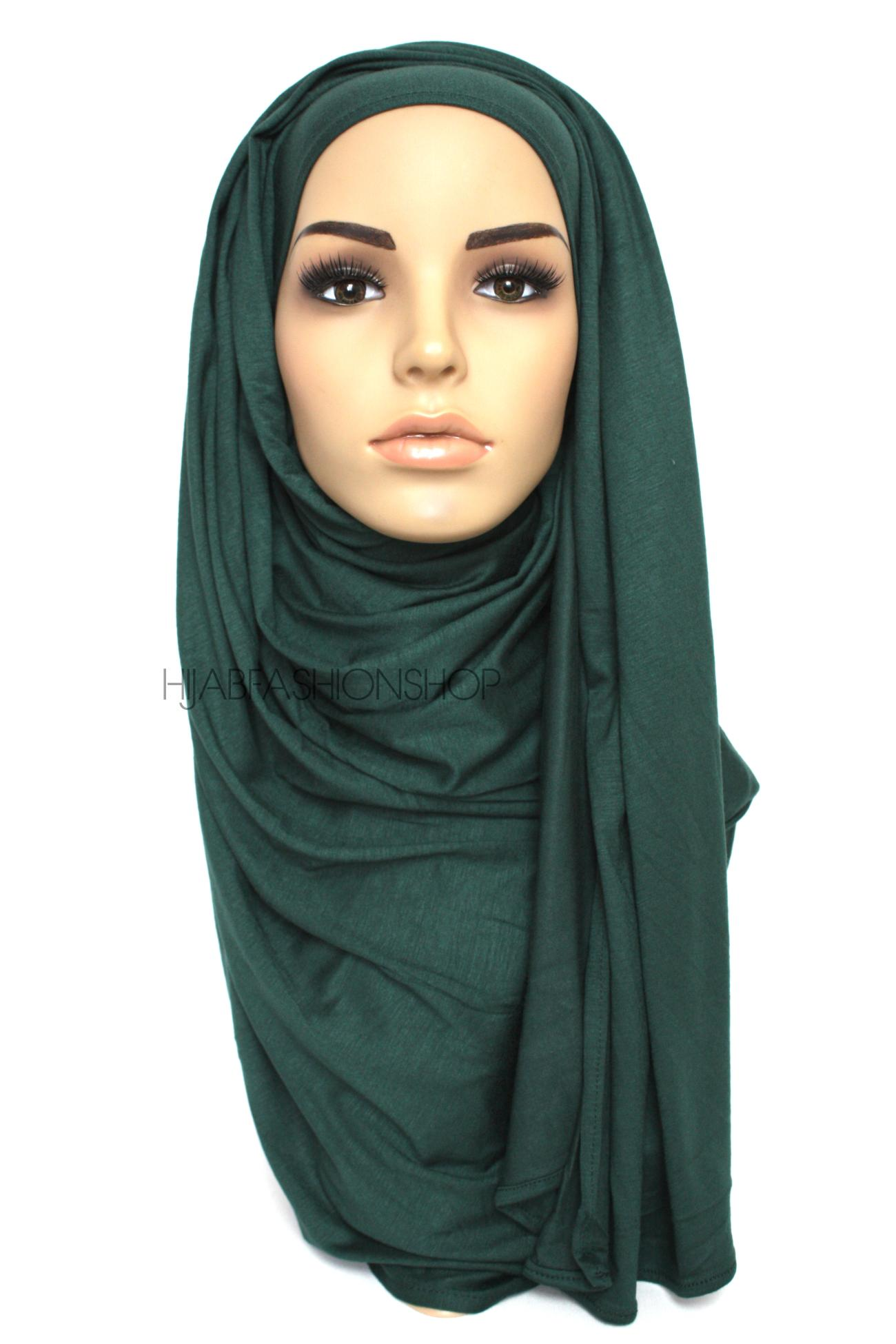 dark green jersey hijab