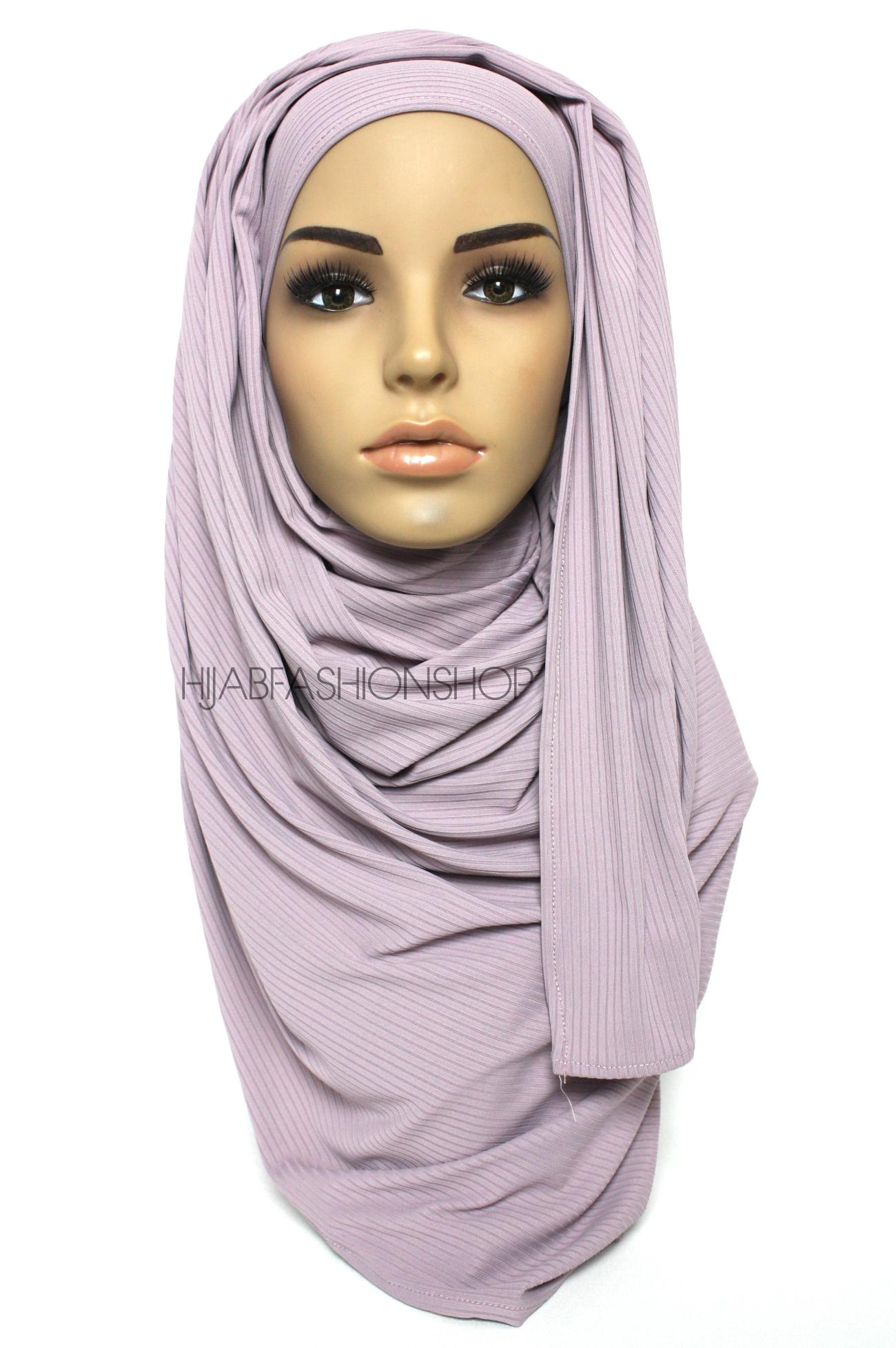 lavender ribbed jersey hijab