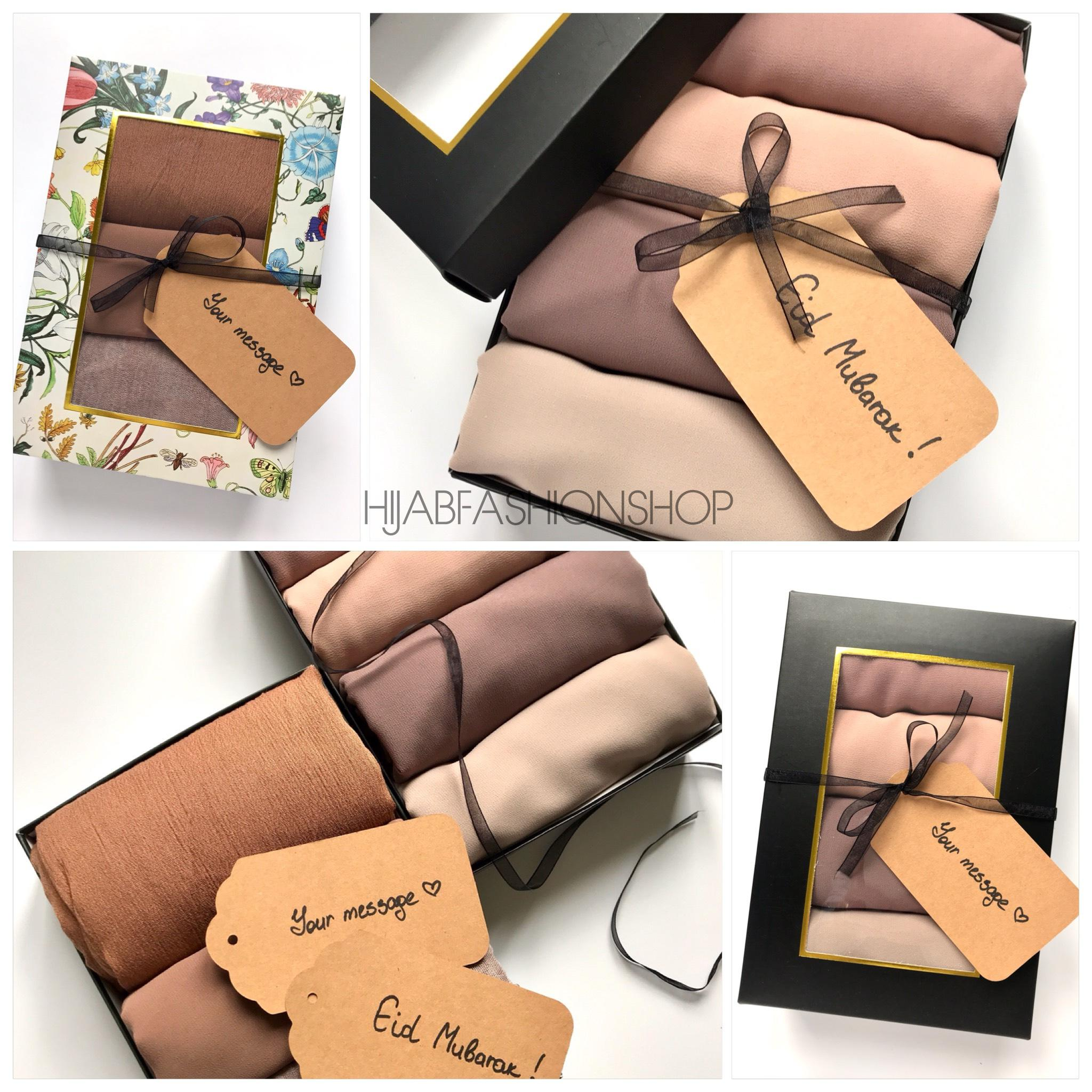 hijab gift box collage