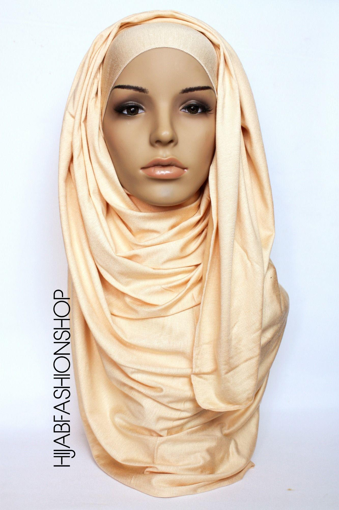 buttermilk plain jersey hijab