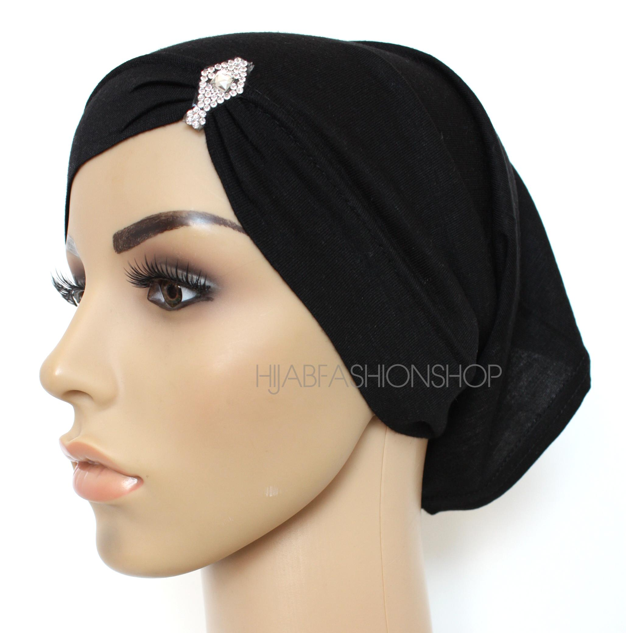 black asymmetric tube underscarve with crystals