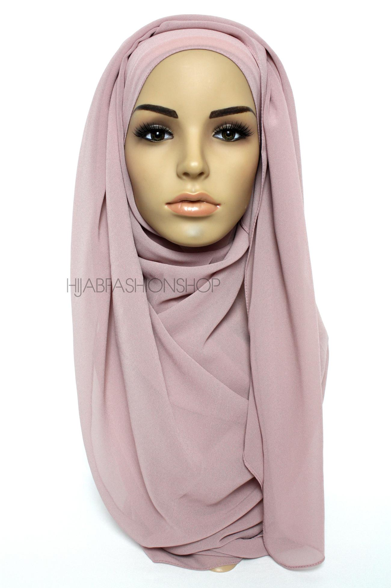 light mauve chiffon hijab