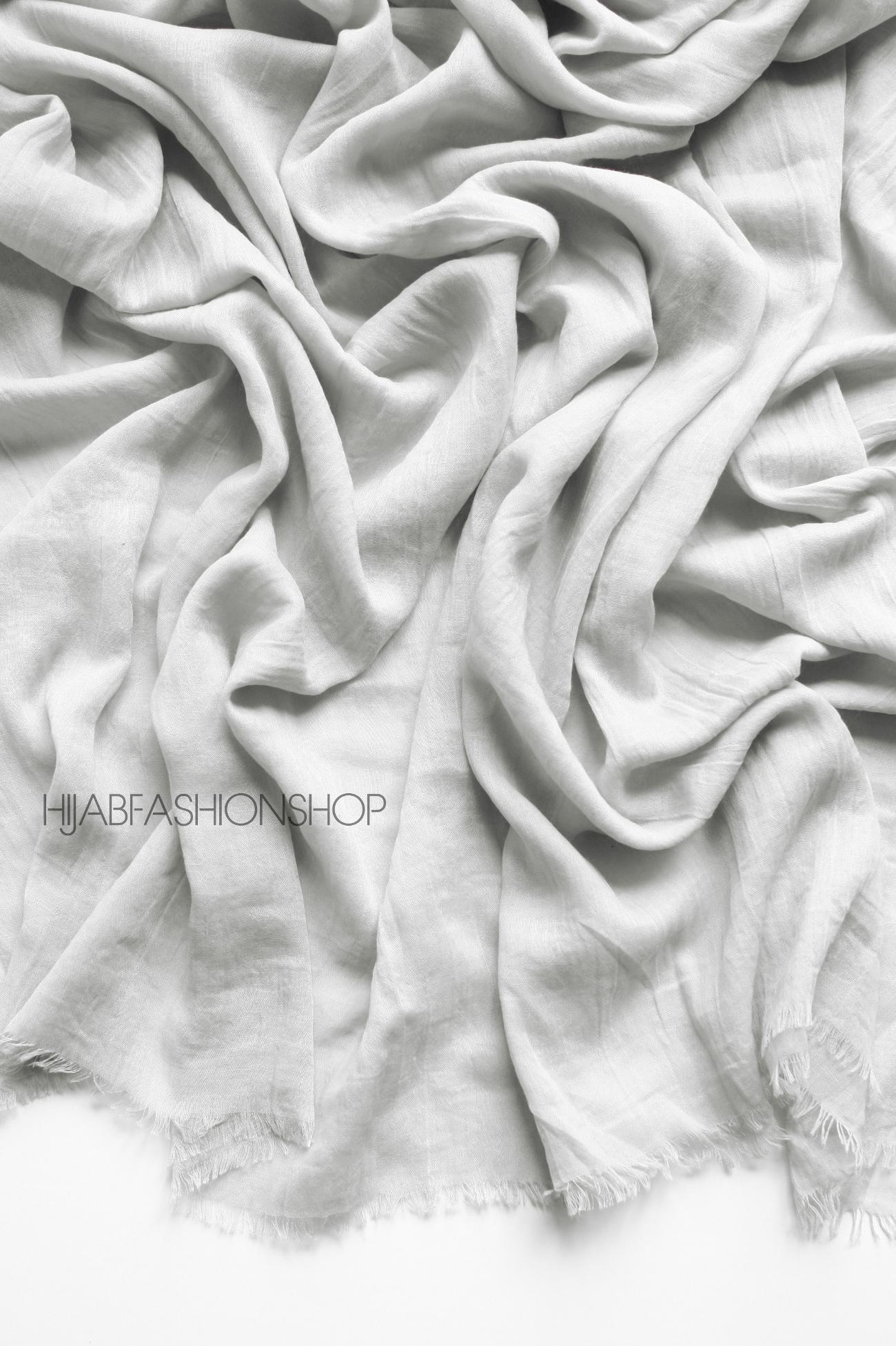 Light grey premium cotton hijab
